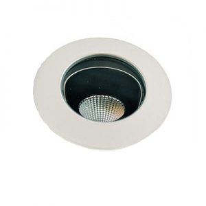 ZONE 1. Sienna trim LED IP54 Adj downlight 9w