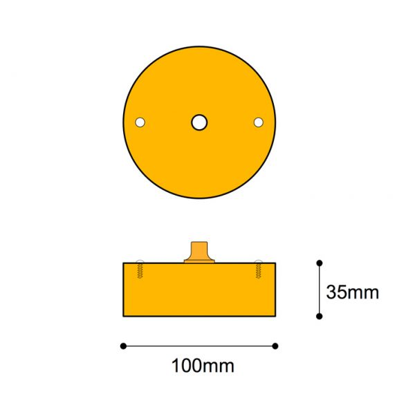 101mm Ø surface box, 34mm Deep