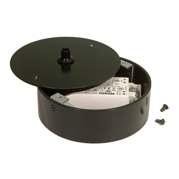 127mmØ surface box, 40mm deep