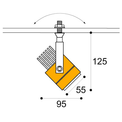 Kuper surface 8w-12w spotlight