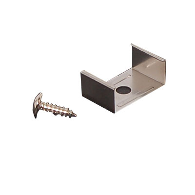 PAIR OF stainless steel fixing clips & screws