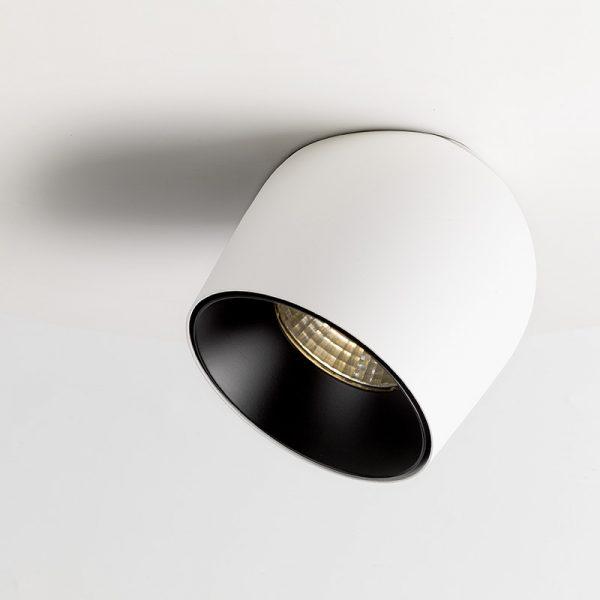 Semi-recessed surface 18w spotlight