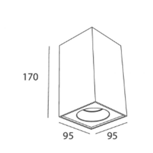 Square surface 7w downlight