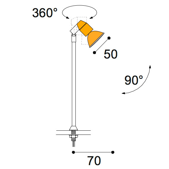 Vitro 50w stem light