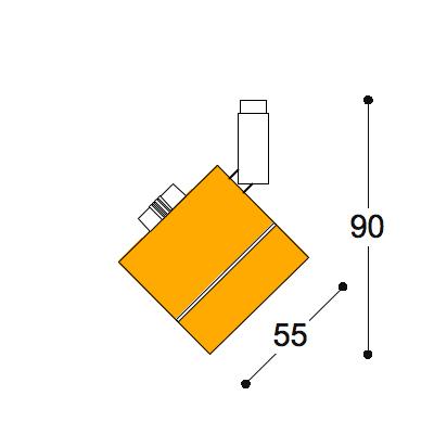 Kuper 12v MR16 Surface spotlight