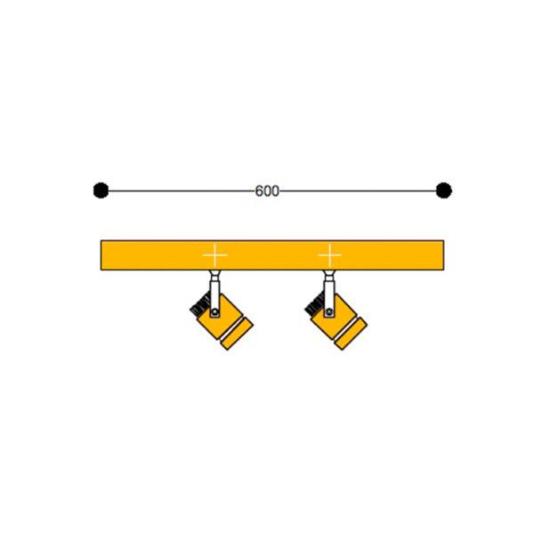 Wall mount Kuper Bar2 600mm 800mm