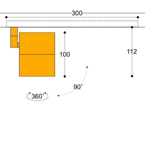 Kuper 40 Flush Track Adaptor Spotlight 12w-38w