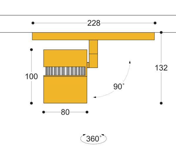 Kuper 40 Side Slot Track Spotlight 18w-38w Semi Flush